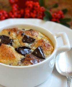 Orange and Dark Chocolate Bread Puddings (Like Hot, Fluffy Jaffa Cakes!)