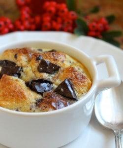 Orange and Dark Chocolate Bread Puddings (Like Hot, Fluffy Jaffa Cakes!)