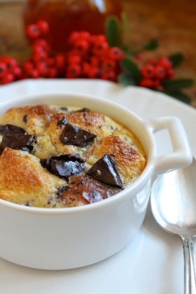 Orange and Dark Chocolate Bread Puddings (Like Hot, Fluffy Jaffa Cakes ...