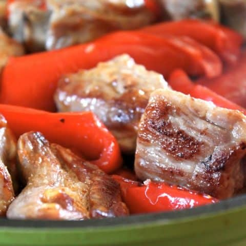 Pork with Red Peppers