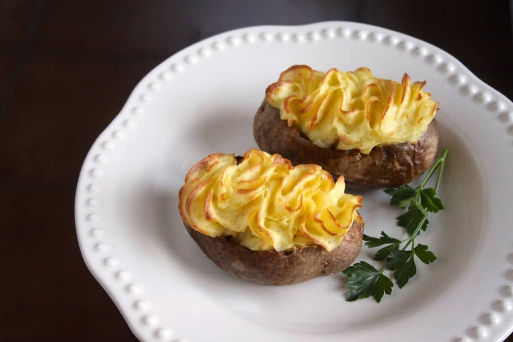 Shepherd's pie baked potatoes