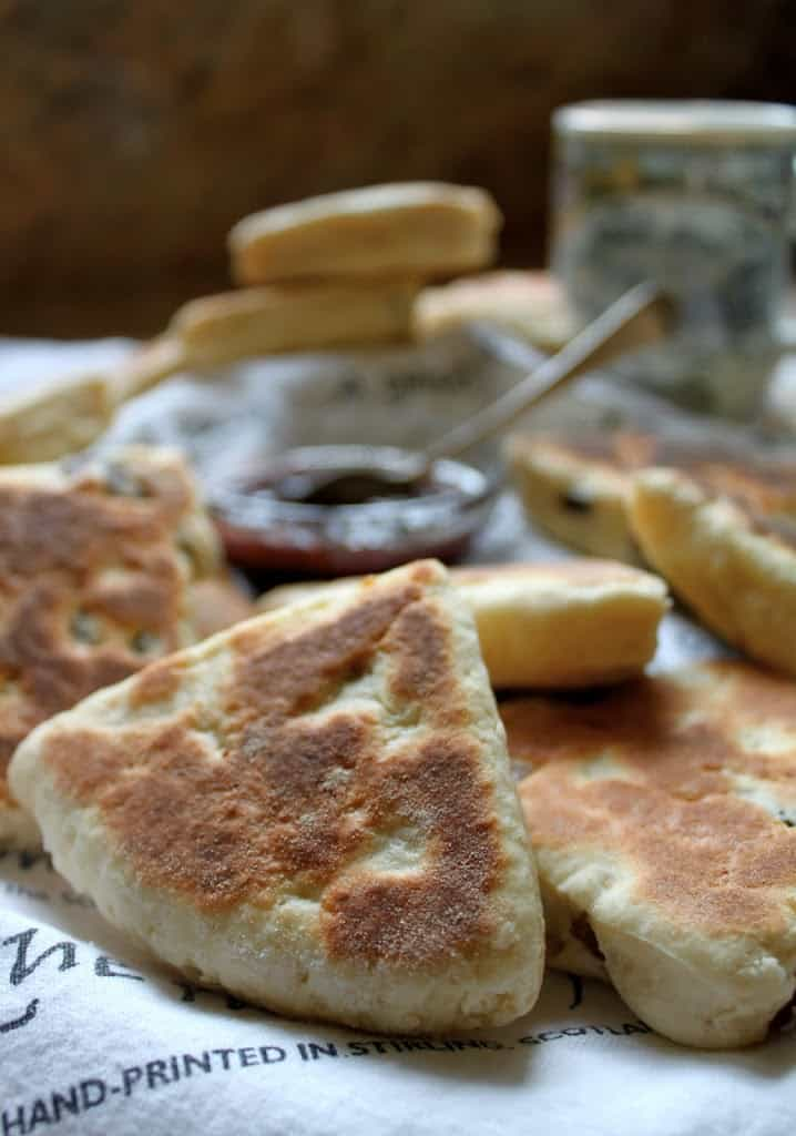 Cream girdle or griddle scones Scottish