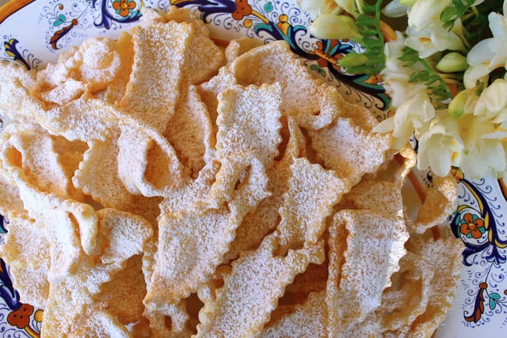 Frappe or Cioffe: Bows and Ribbons of Fried Sweetened Dough carnevale