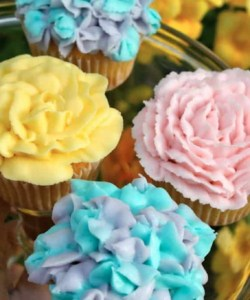 Floral Cupcakes for Spring