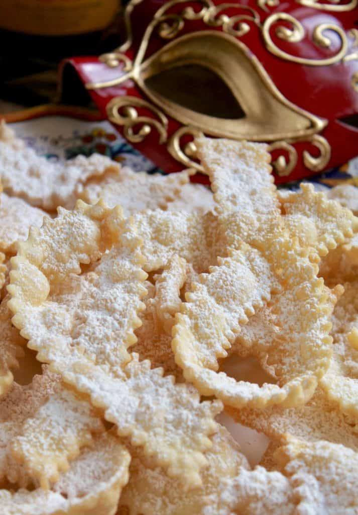 cioffe on a plate (Italian bow tie cookies)