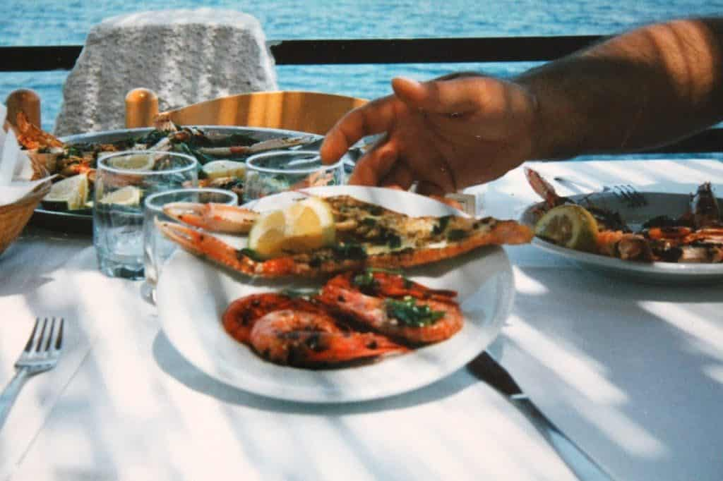 Seafood in Sicily Italy