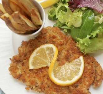 pork schnitzel on a plate