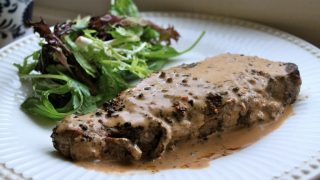Steak au Poivre (Peppered Steak) - A Luxury Mid-Week Meal in 15 Minutes