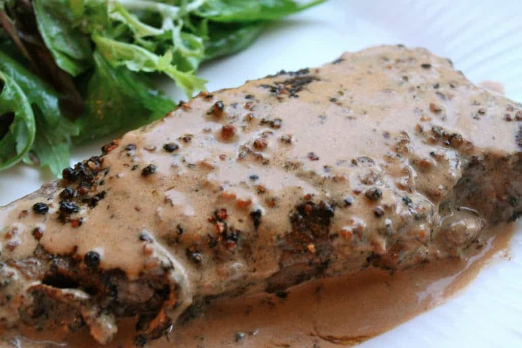 Steak au Poivre (Peppered Steak) – A Luxury Mid-Week Meal in 15 Minutes