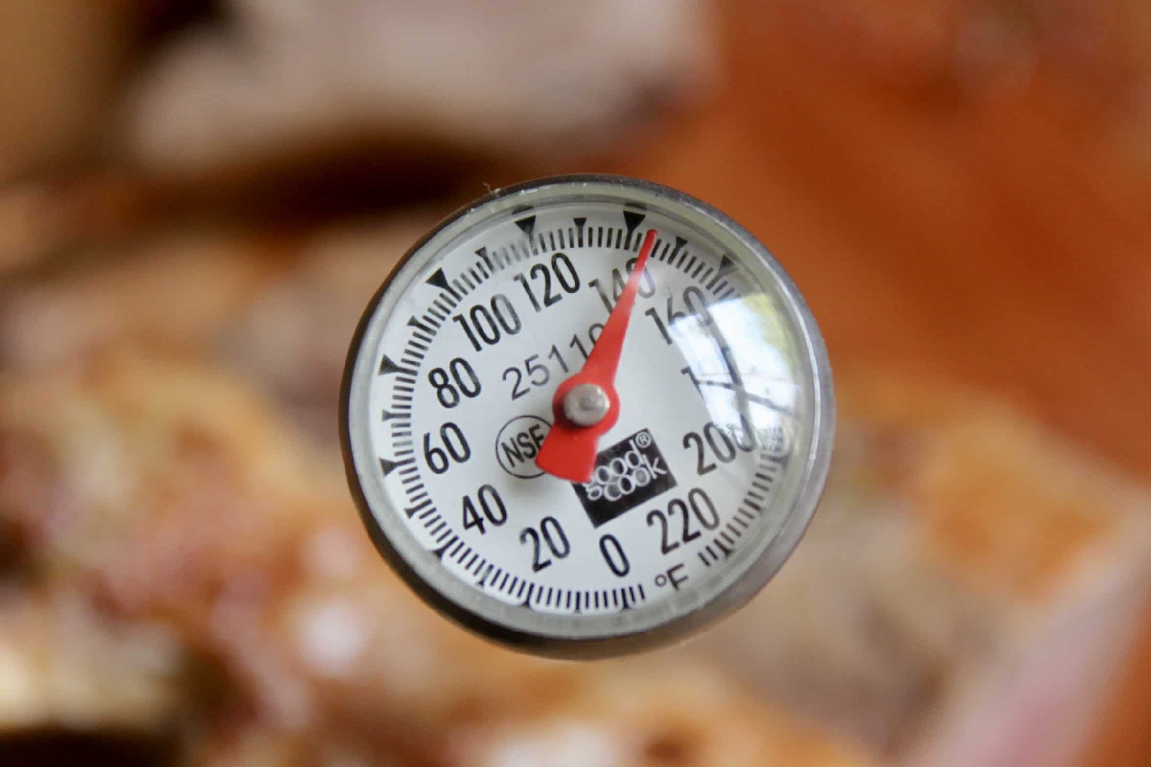 meat thermometer at 145