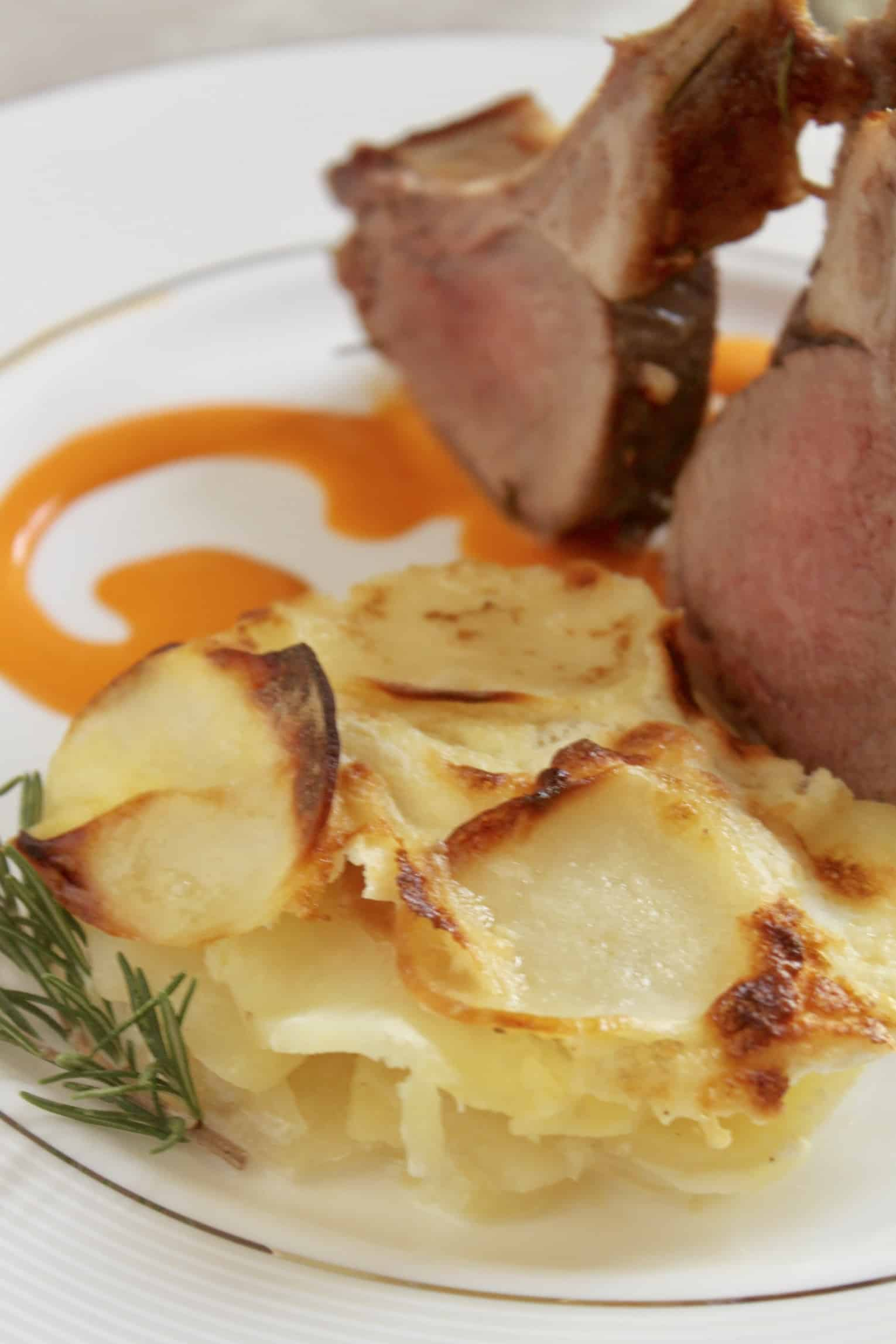 potatoes dauphinois with lamb