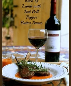 Rack of Lamb with Red Bell Pepper Butter Sauce