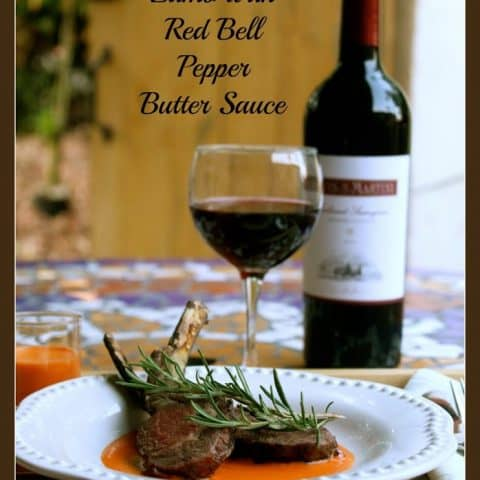 lamb meat red bell pepper sauce rosemary easy dinner delicious
