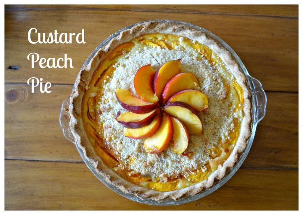 The Best Custard Peach Pie