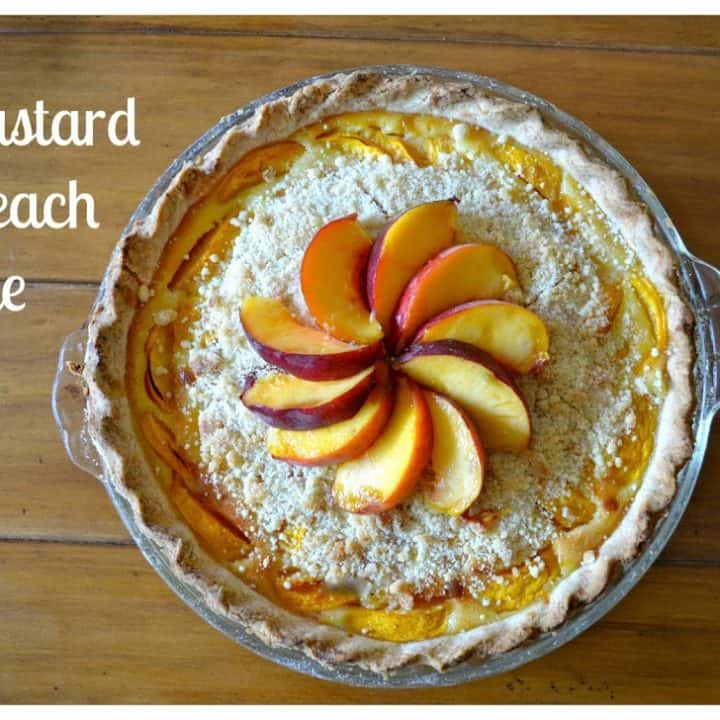 The Best Custard Peach Pie