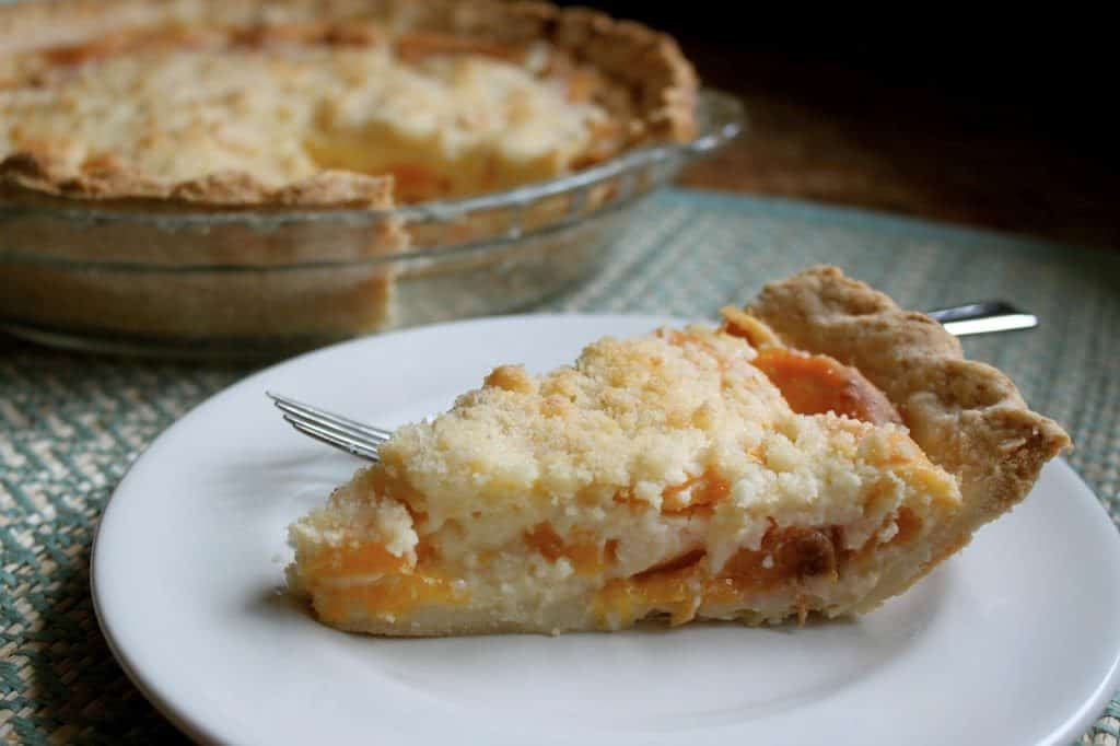 Slice of Custard Peach Pie!