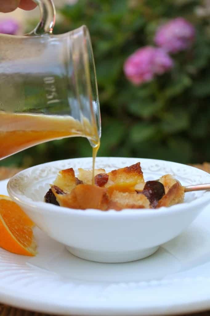 orange cranberry bread pudding
