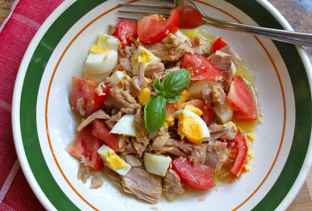 tomato tuna zia marias summer salad fresh recipe how to make egg basil healthy