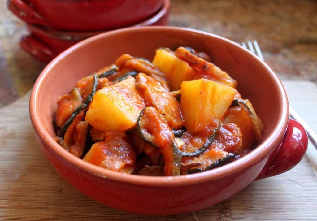 Dried Zucchini Pancetta and Potatoes