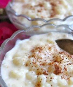 rice pudding with peach recipe dessert easy cream dairy how to make