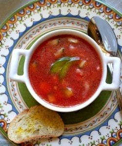 gazpacho summer soup recipe healthy light cool tomato