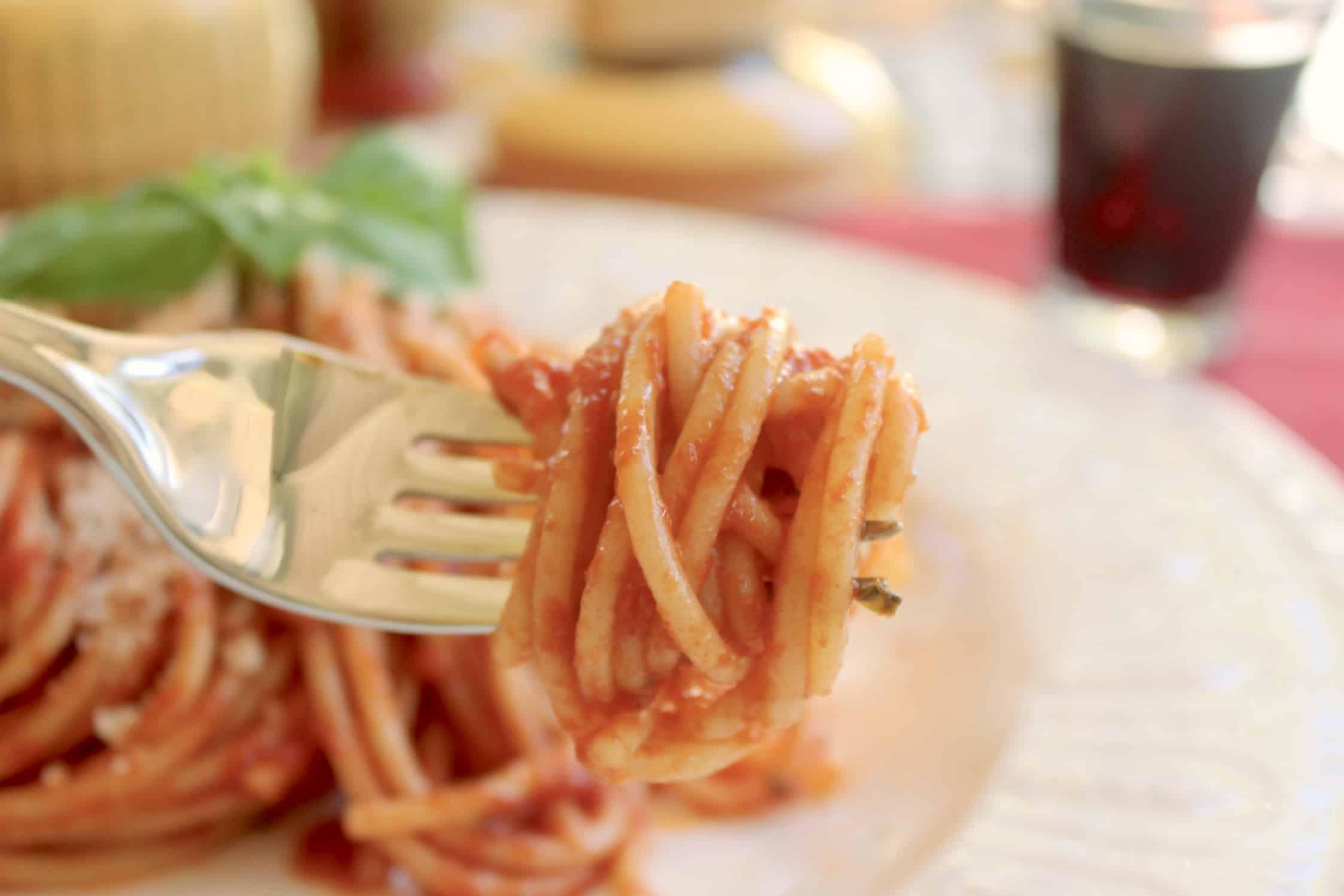 forkful of spaghetti