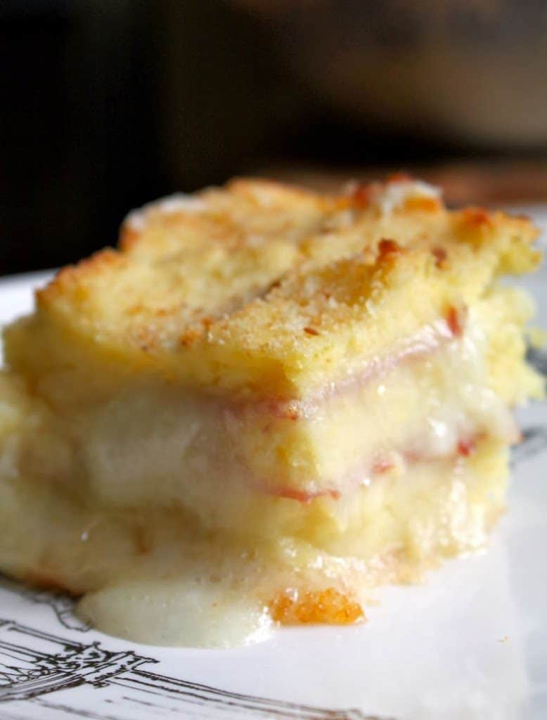 Potato Ham and Mozzarella Bake Casserole Gatto di Patate