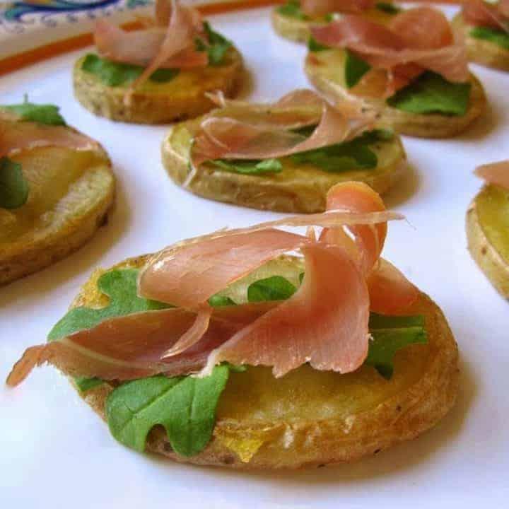 Prosciutto di San Daniele, Truffle Cheese and Potato Appetizers
