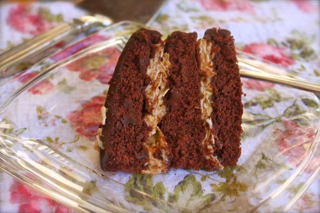 Inside-Out German Chocolate Cake - Christina's Cucina