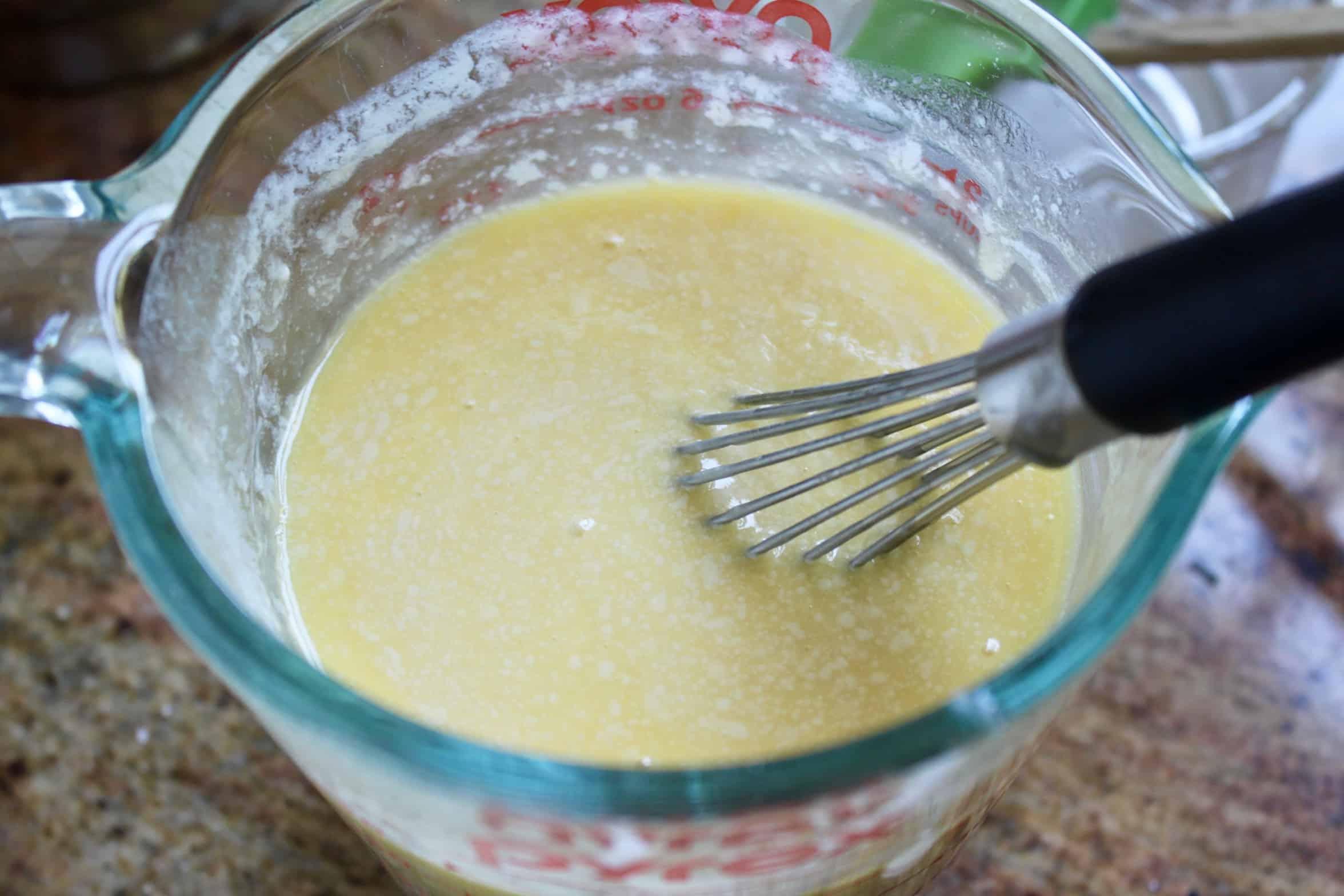 mixing liquid ingredients