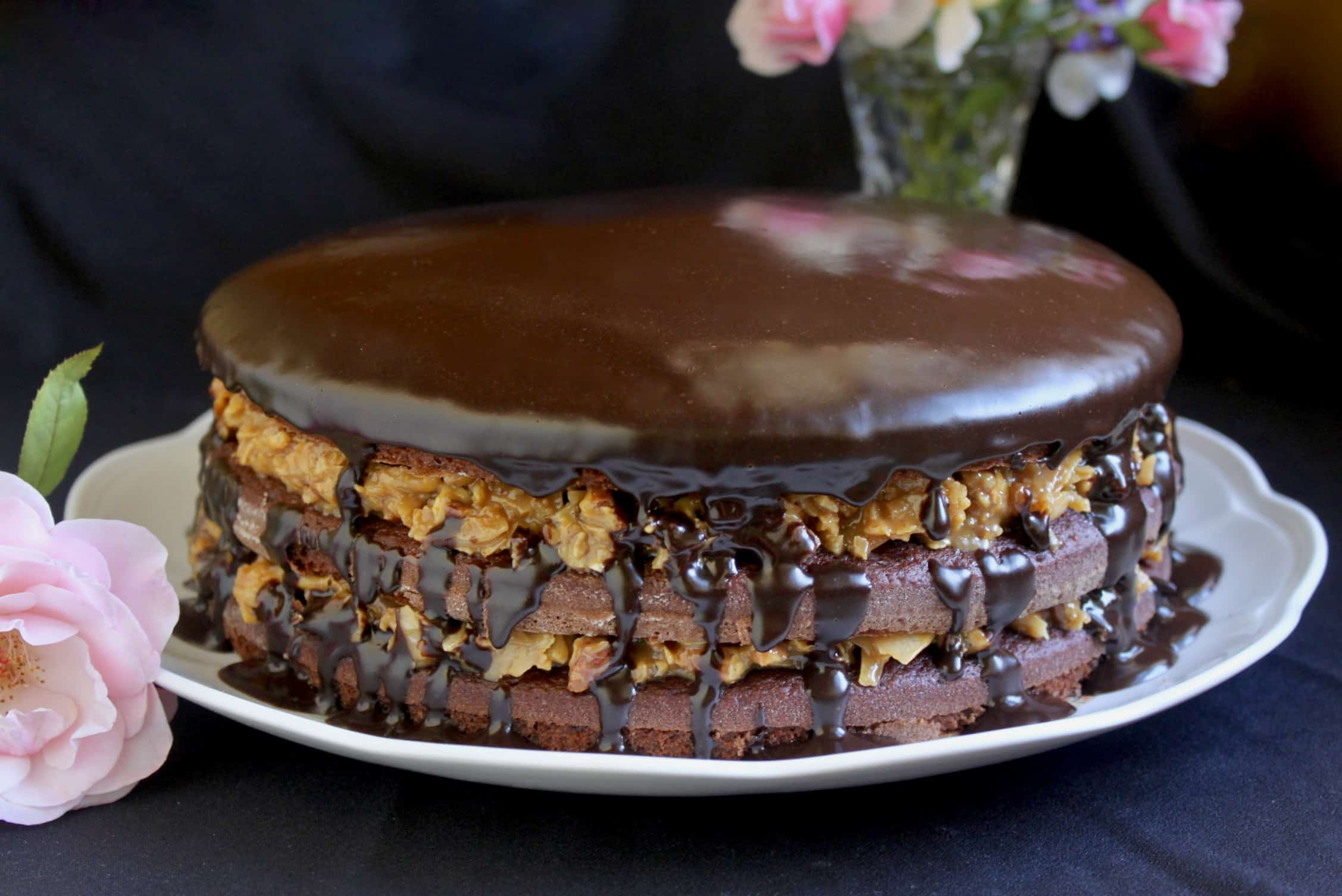 German Chocolate Cake with ganache