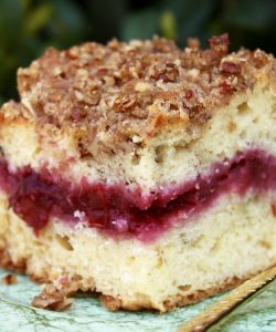 Cherry Cheese Streusel Coffee Cake