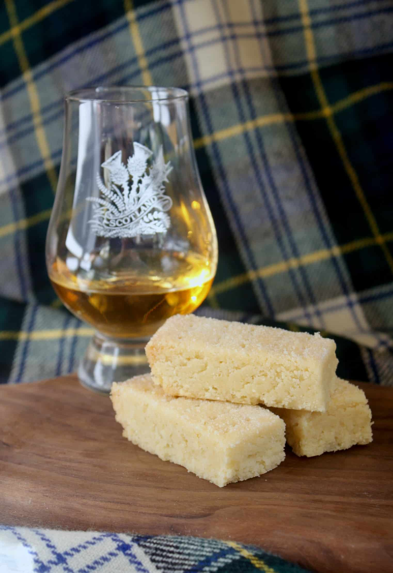 shorbread fingers and whisky