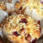 Homemade (Perfect) Cranberry and Orange Yogurt Muffins