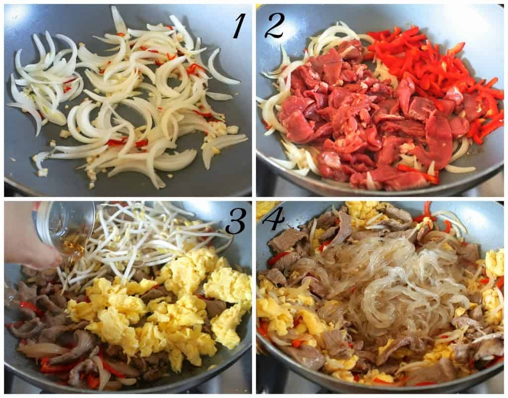 Add The Noodles, And Stirfry For 1 Minute