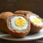 Scotch Eggs ~ Deep-Fried, Sausage-Covered Hard Boiled Eggs