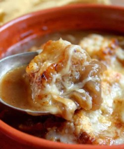 French Onion Soup ~ the way Julia made it, sort of…