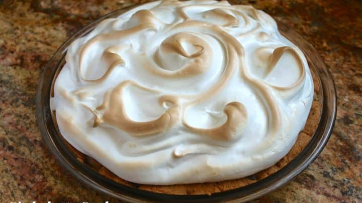 Chocolate Chip Cookie Baked Alaska Pie