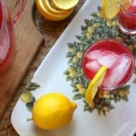Homemade Cranberry Lemonade, Some News and A New Look!