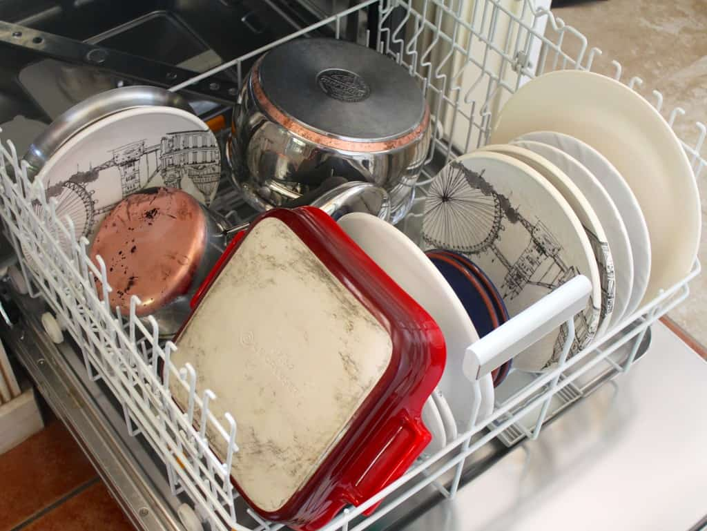 Miele loaded dishwasher
