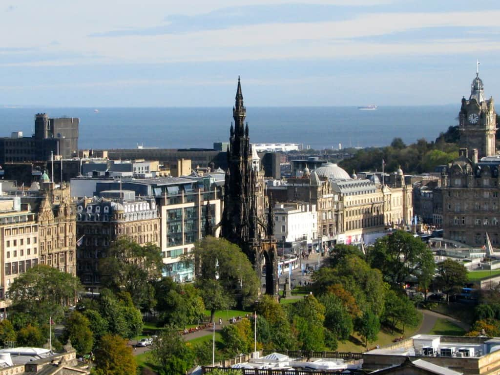 Princes Street and Scott Monument