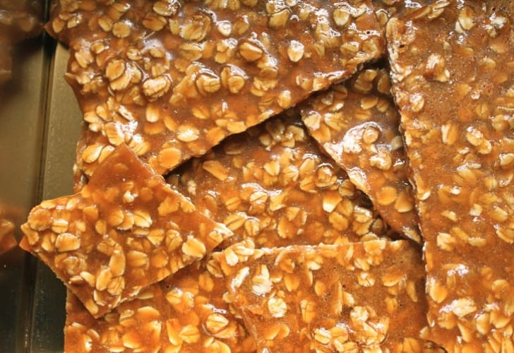 Oat Brittle: Great Idea for an Edible Gift, or in Sticky Toffee Porridge and Other Desserts