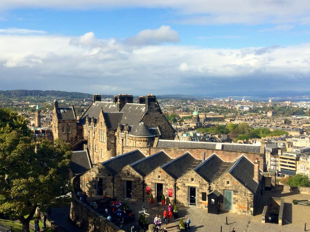 View from Inside The Edinburgh Castle