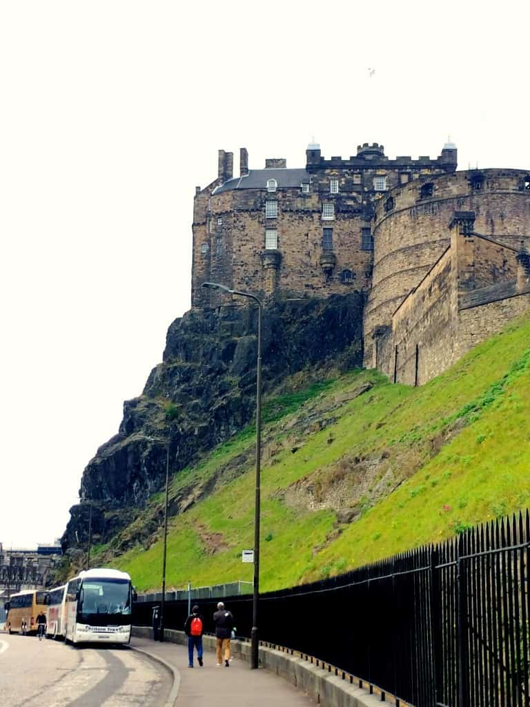 Overcast Edinburgh Castle