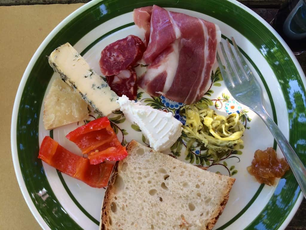 First plate of antipasto