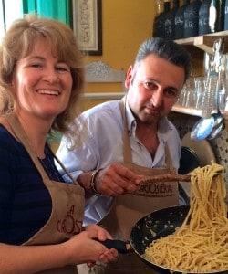 Casa Lawrence and a Recipe for Spaghetti Cacio e Pepe (Spaghetti with Pecorino Cheese and Black Pepper) Part 2
