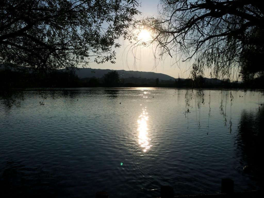 tramonto lago di posta fibreno