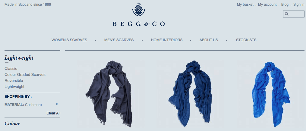 Begg & Co scarves