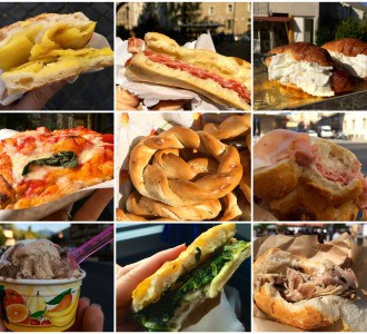 handheld Italian food