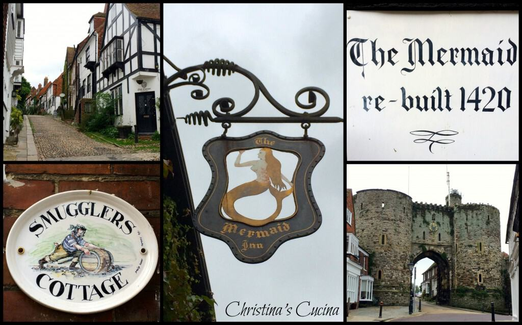 mermaid inn sign collage